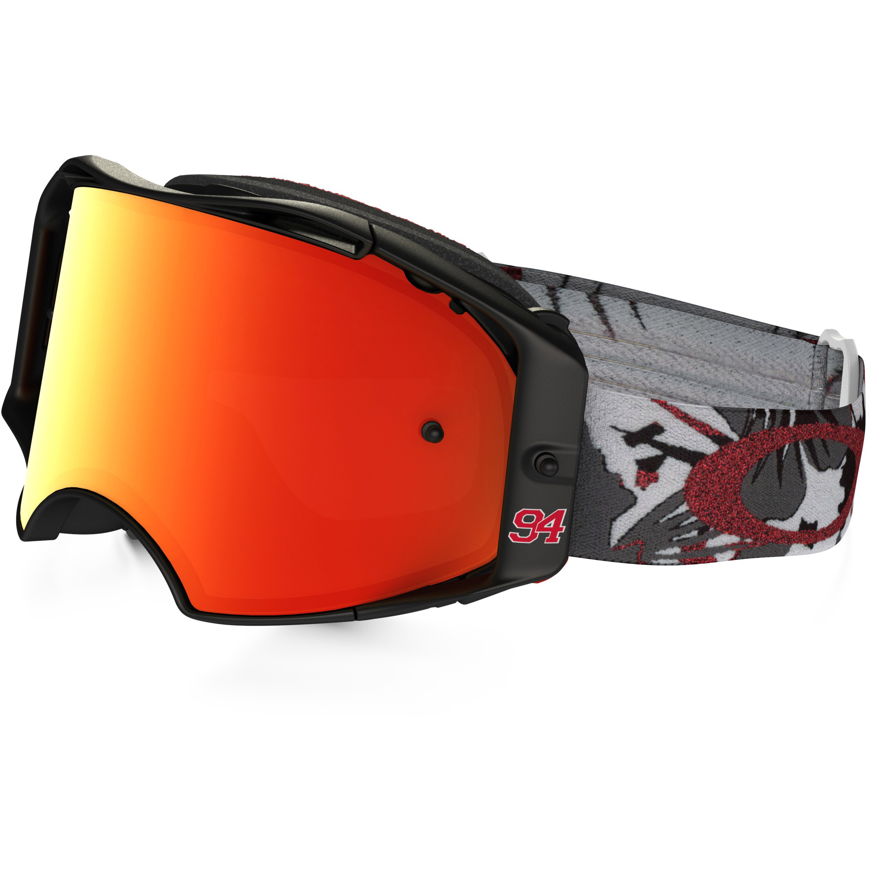 0655b972780 Oakley Goggles O2 MX Intimidator Gunmetal Yellow 24K Iridium   Clear ...