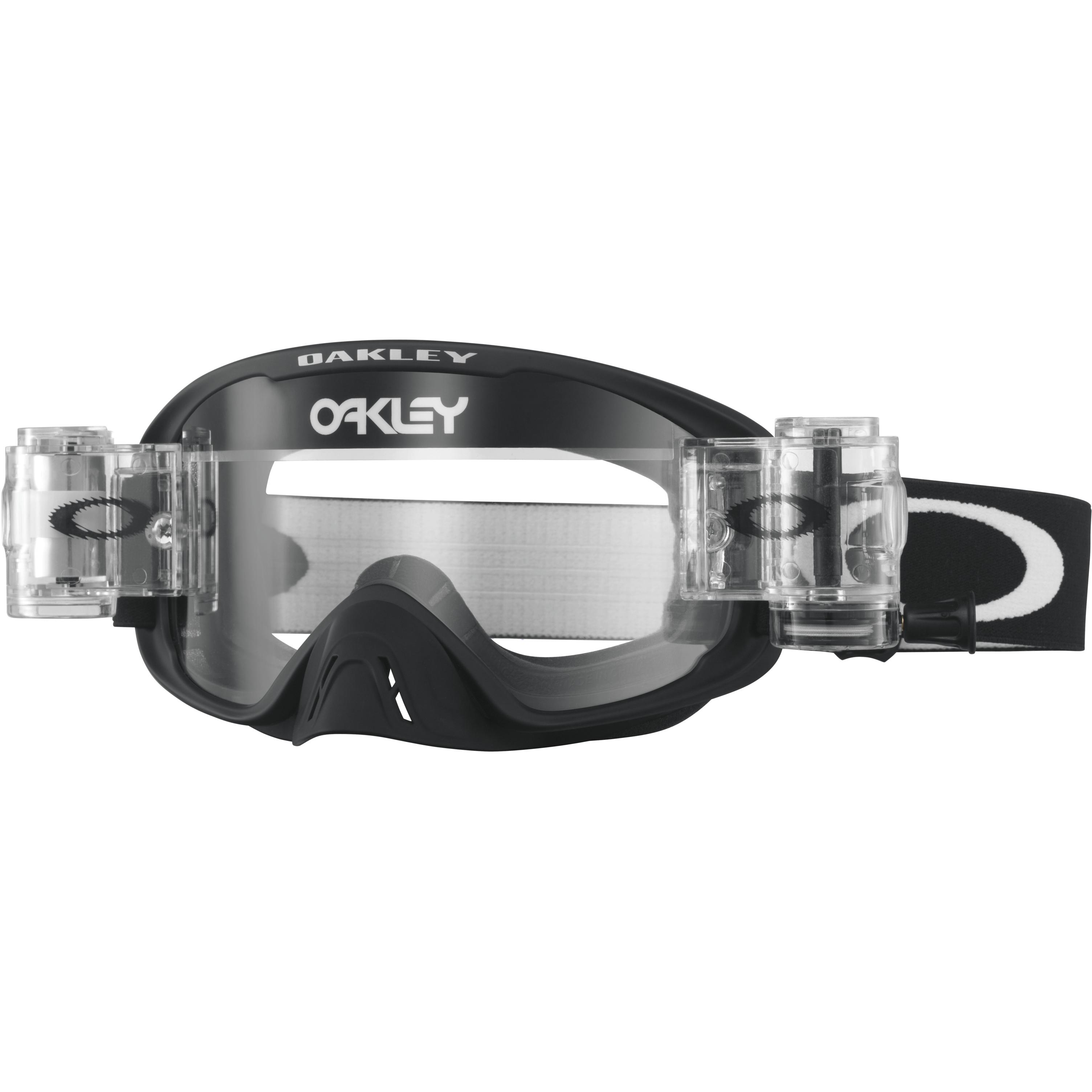 42b25df3e7a Oakley Goggles O2 MX Race-Ready Matte Black Clear lens Roll-Off ...