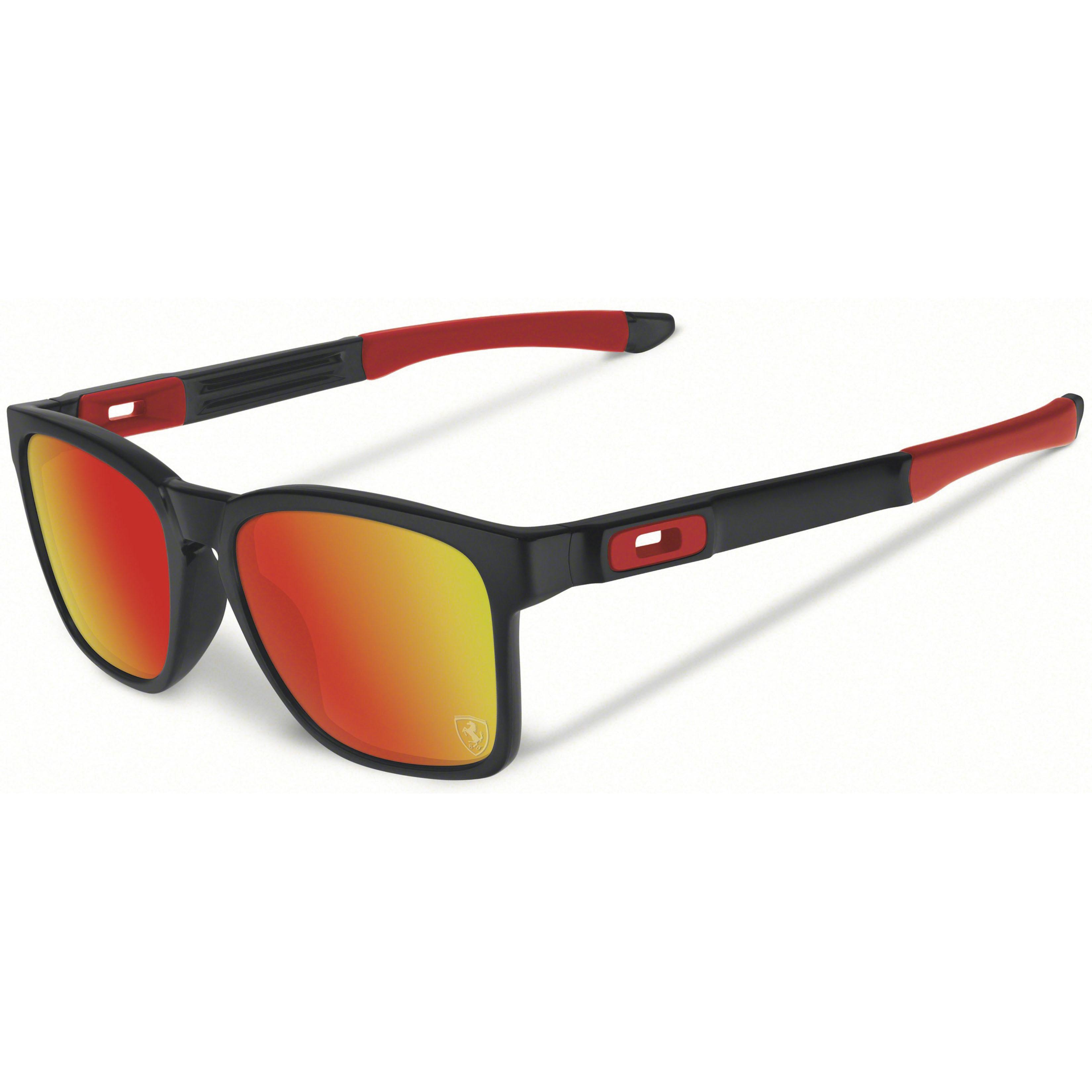 Oakley Catalyst Sunglasses Matte Black ruby iridium Scuderi Ferrari 167 74bed761b1